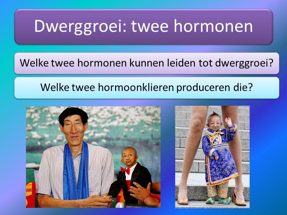 Dwerggroei: twee hormonen
