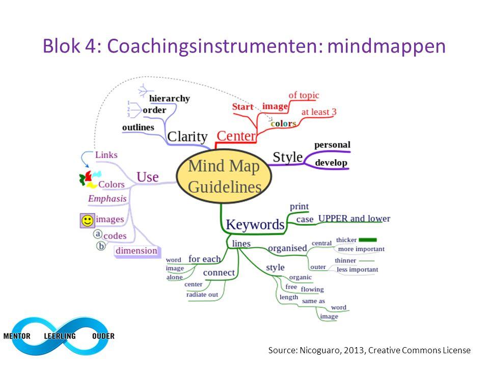 Blok 4: Coachingsinstrumenten: mindmappen