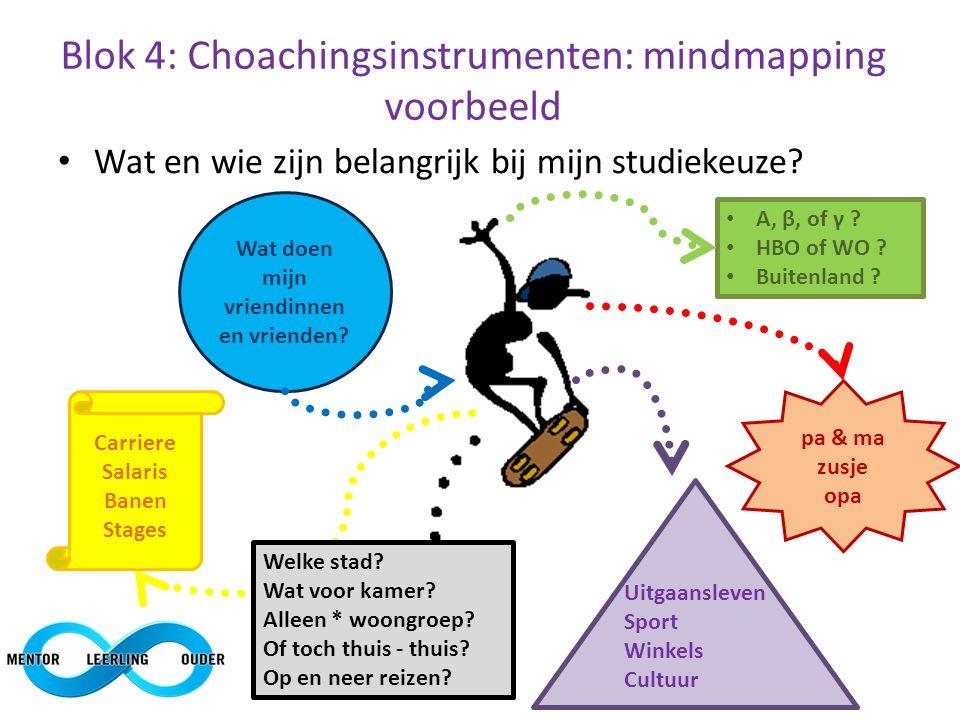 Blok 4: Choachingsinstrumenten: mindmapping voorbeeld