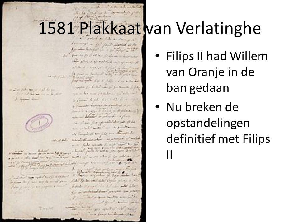 1581 Plakkaat van Verlatinghe