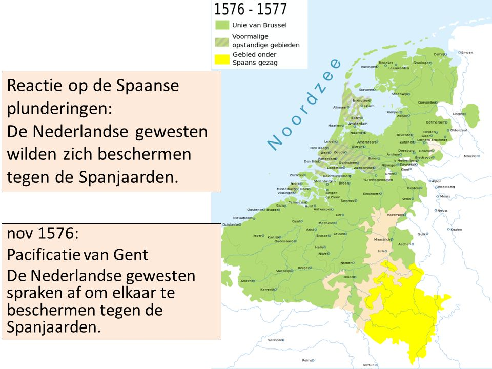 De Nederlandse gewesten wilden zich beschermen tegen de Spanjaarden.