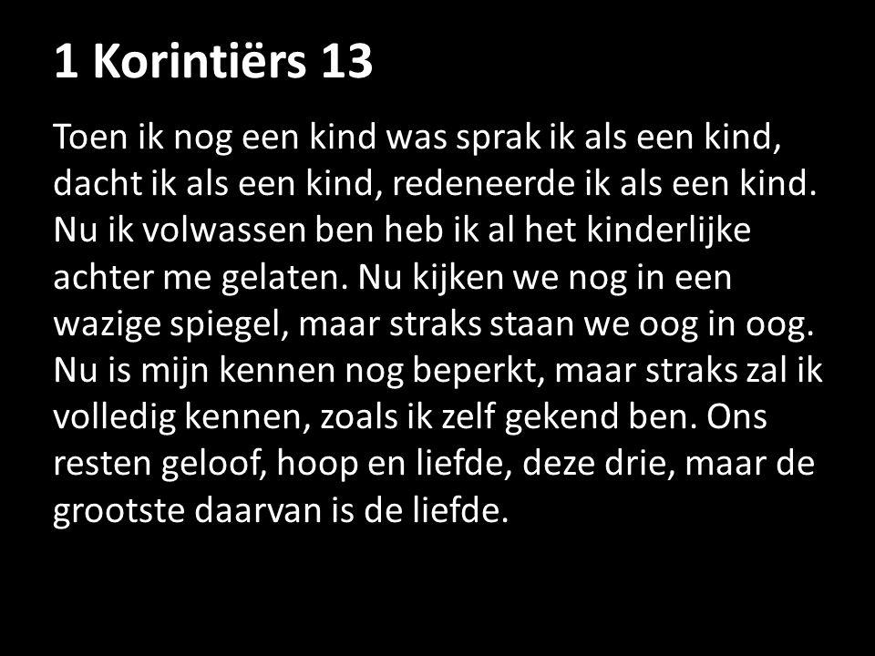 1 Korintiërs 13