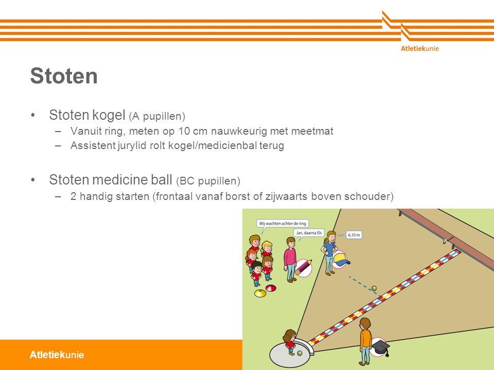 Stoten Stoten kogel (A pupillen) Stoten medicine ball (BC pupillen)