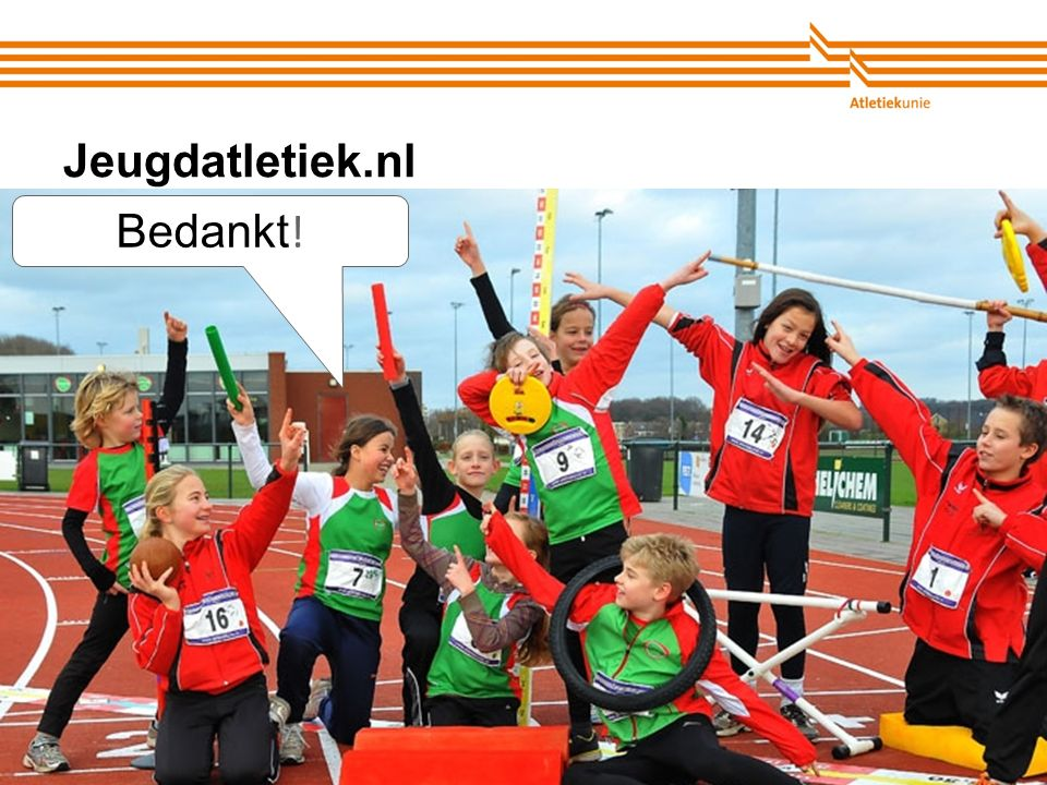 Jeugdatletiek.nl Bedankt!