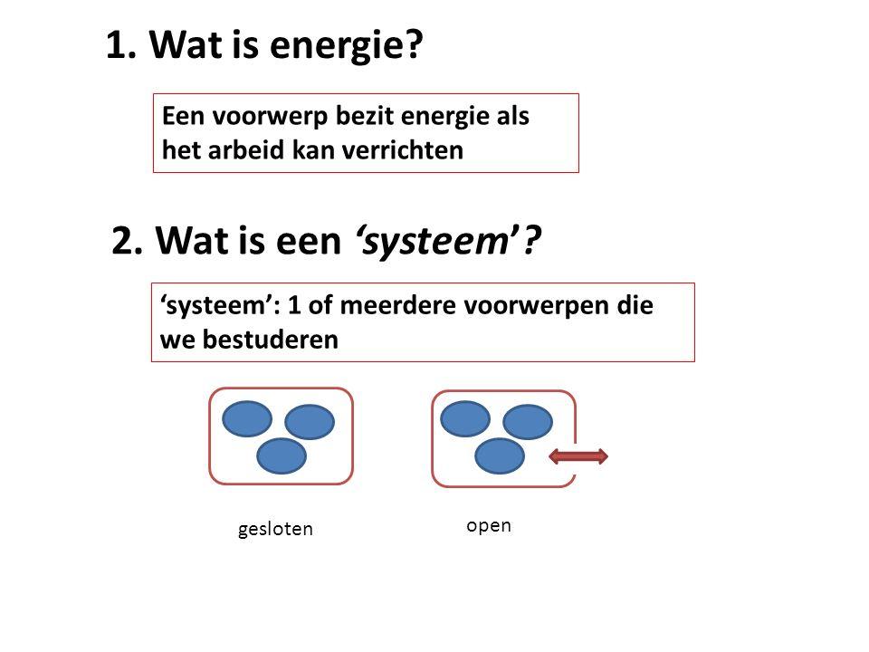 1. Wat is energie 2. Wat is een 'systeem'