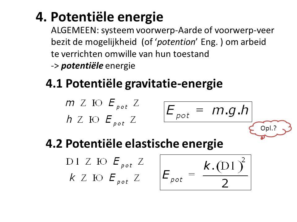 4.1 Potentiële gravitatie-energie