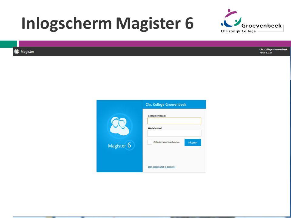 Inlogscherm Magister 6