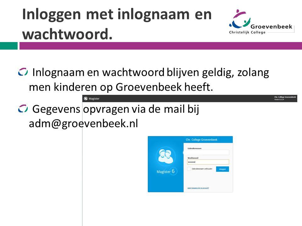 Inloggen met inlognaam en wachtwoord.