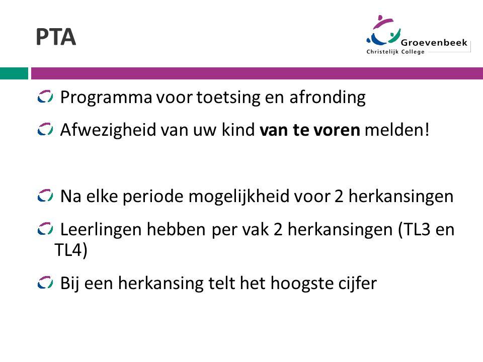 PTA Programma voor toetsing en afronding