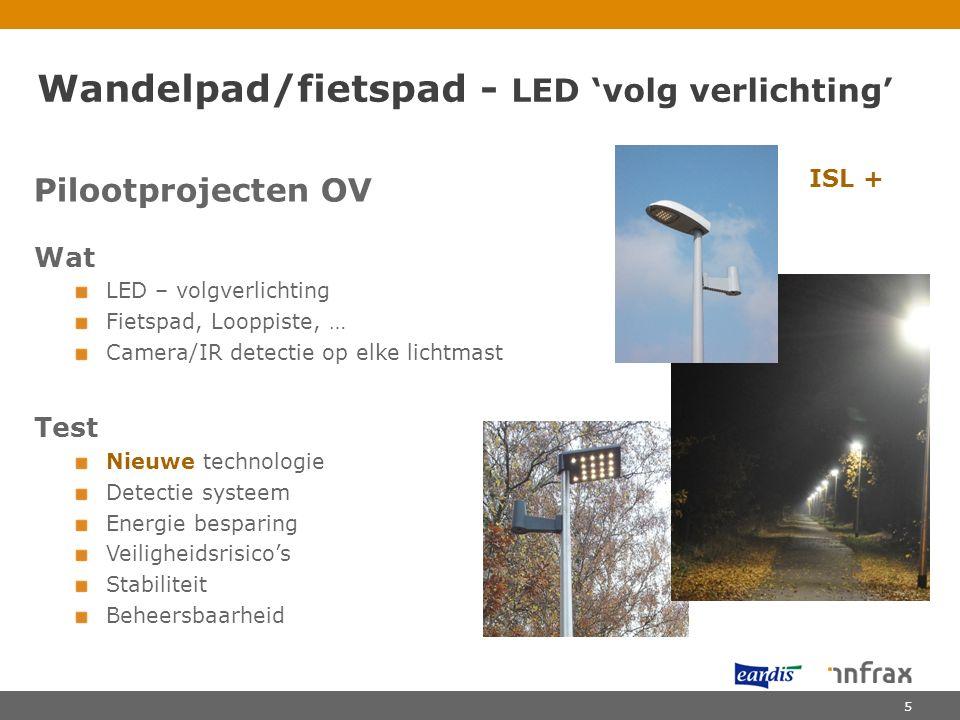 Wandelpad/fietspad - LED 'volg verlichting'
