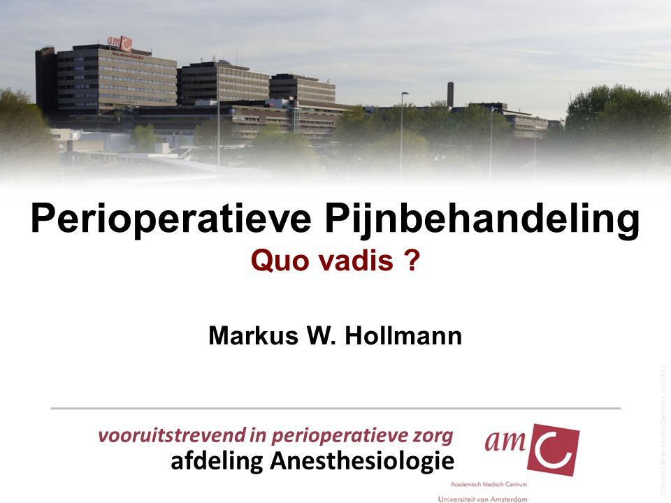 Perioperatieve Pijnbehandeling Quo vadis