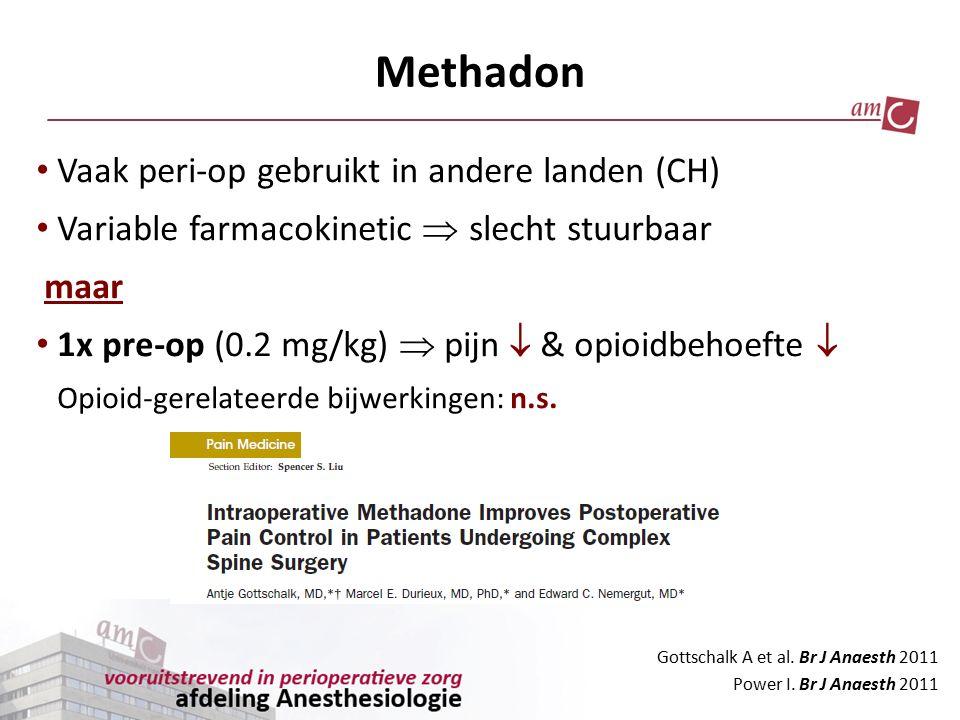 Methadon Vaak peri-op gebruikt in andere landen (CH)