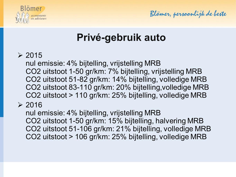 Privé-gebruik auto