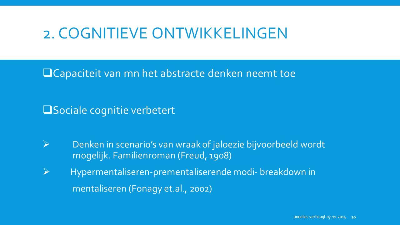2. Cognitieve ontwikkelingen