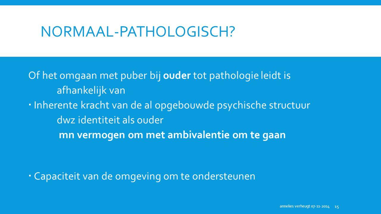 Normaal-pathologisch