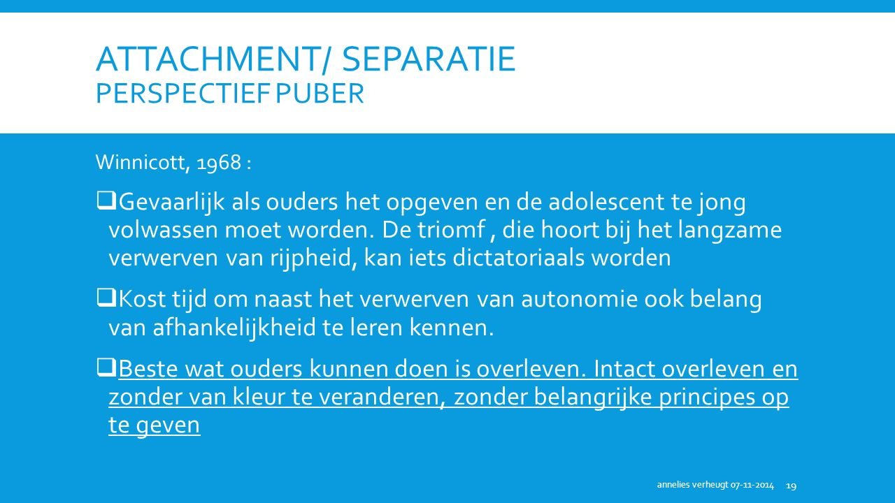 attachment/ separatie perspectief puber