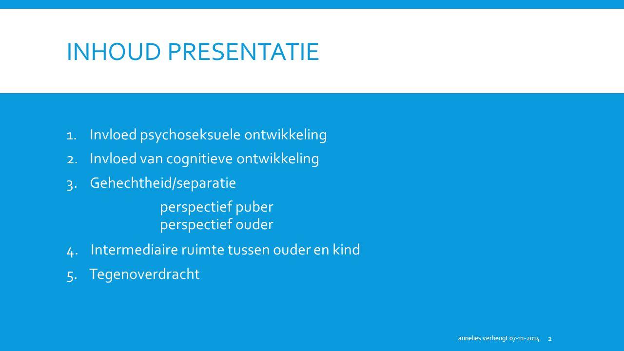 Inhoud presentatie Invloed psychoseksuele ontwikkeling