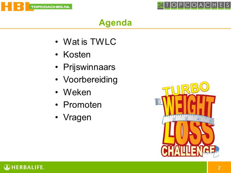 Agenda Wat is TWLC Kosten Prijswinnaars Voorbereiding Weken Promoten