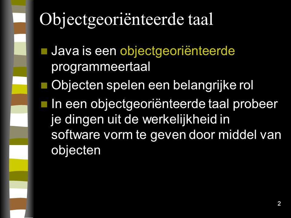 Objectgeoriënteerde taal