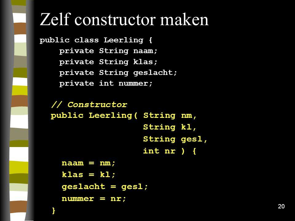 Zelf constructor maken