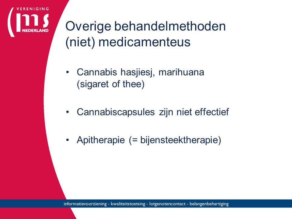 Overige behandelmethoden (niet) medicamenteus