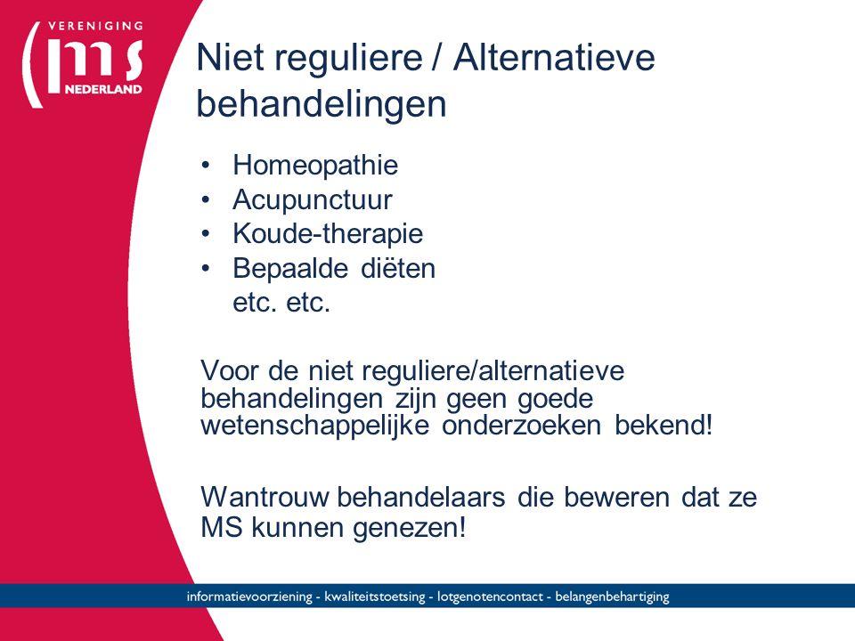 Niet reguliere / Alternatieve behandelingen