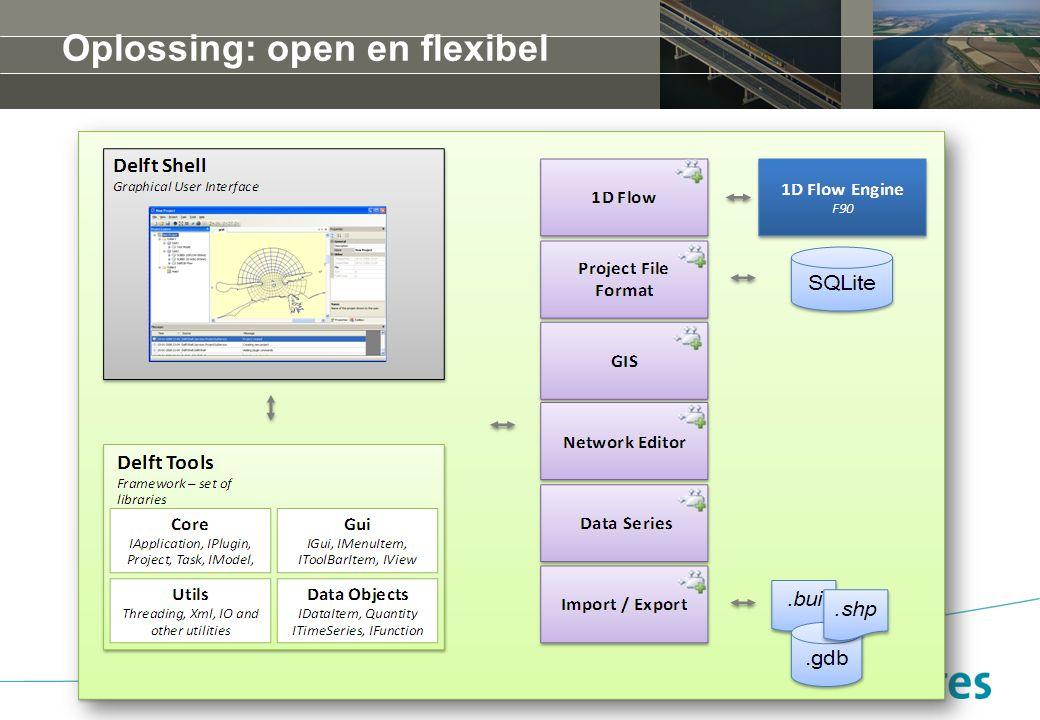 Oplossing: open en flexibel