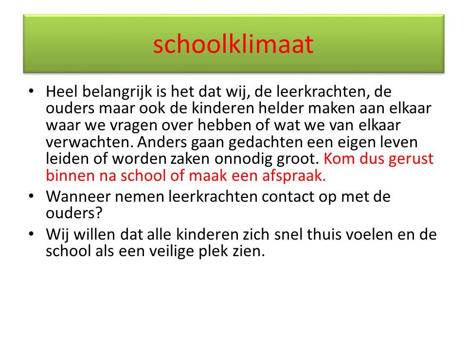 schoolklimaat