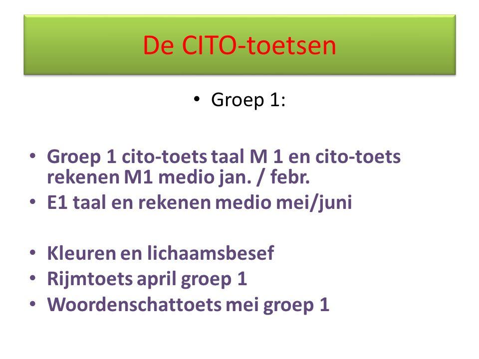 De CITO-toetsen Groep 1: