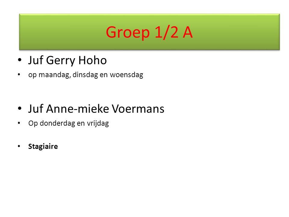 Groep 1/2 A Juf Gerry Hoho Juf Anne-mieke Voermans