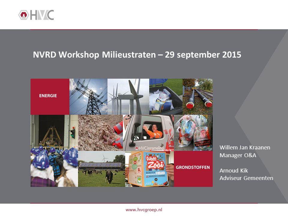 NVRD Workshop Milieustraten – 29 september 2015