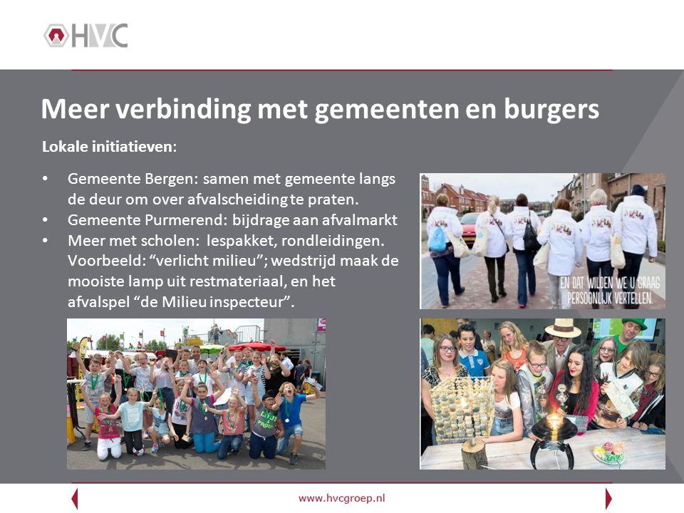 Meer verbinding met gemeenten en burgers