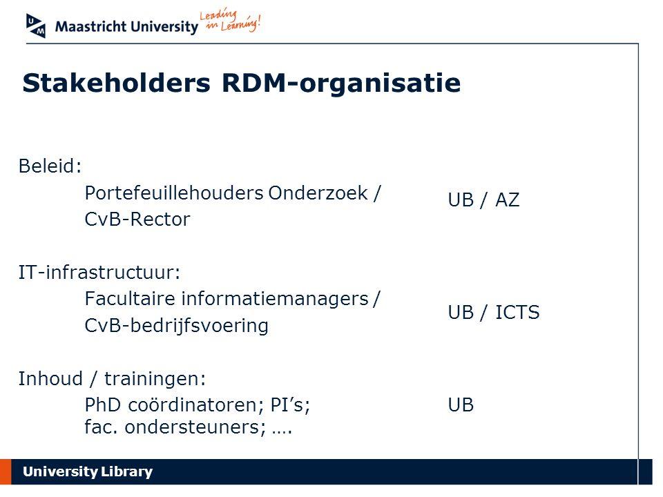Stakeholders RDM-organisatie