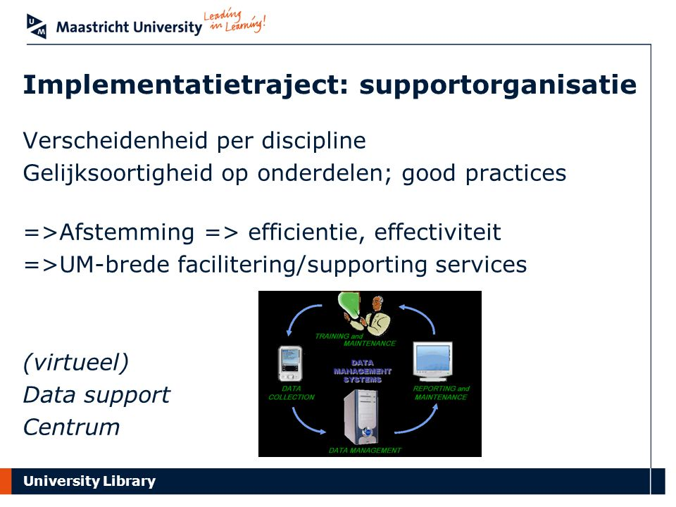 Implementatietraject: supportorganisatie