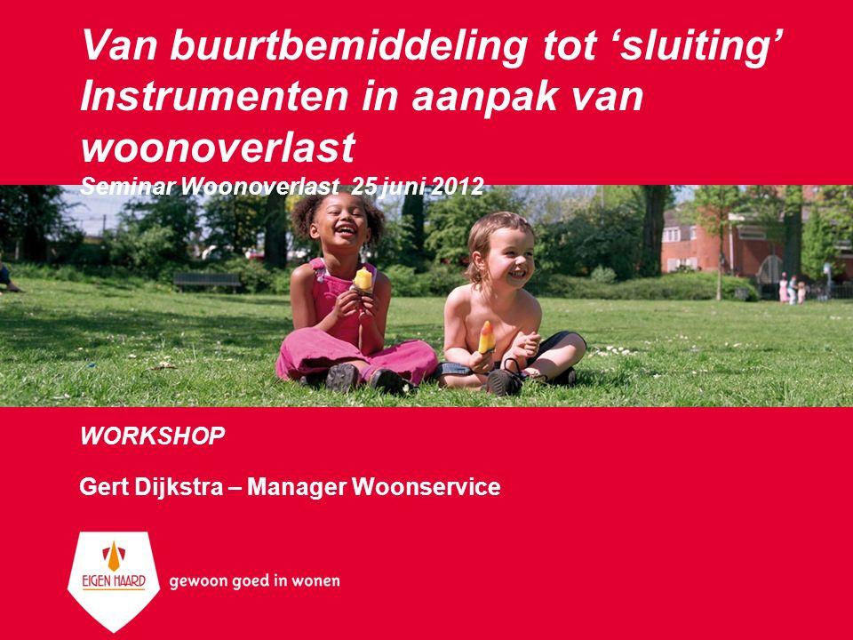 WORKSHOP Gert Dijkstra – Manager Woonservice