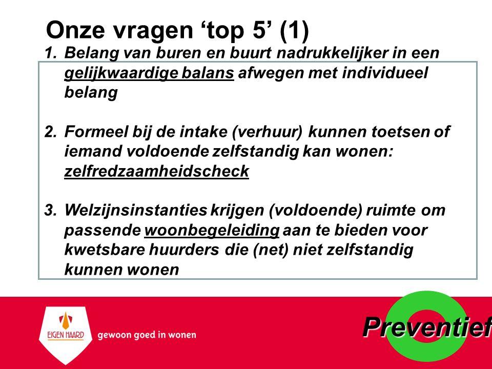 Preventief Onze vragen 'top 5' (1)