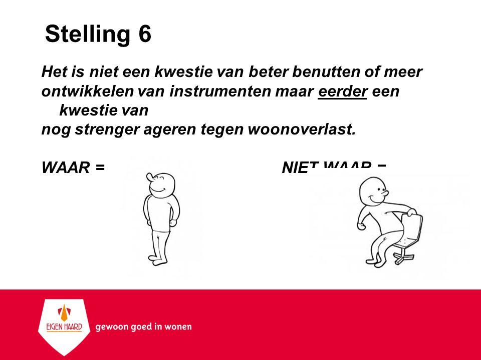 Stelling 6 Het is niet een kwestie van beter benutten of meer