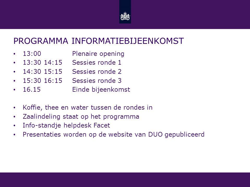 Programma informatiebijeenkomst