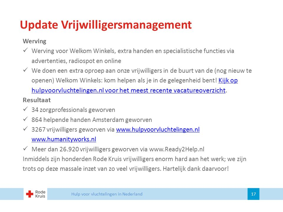Update Vrijwilligersmanagement