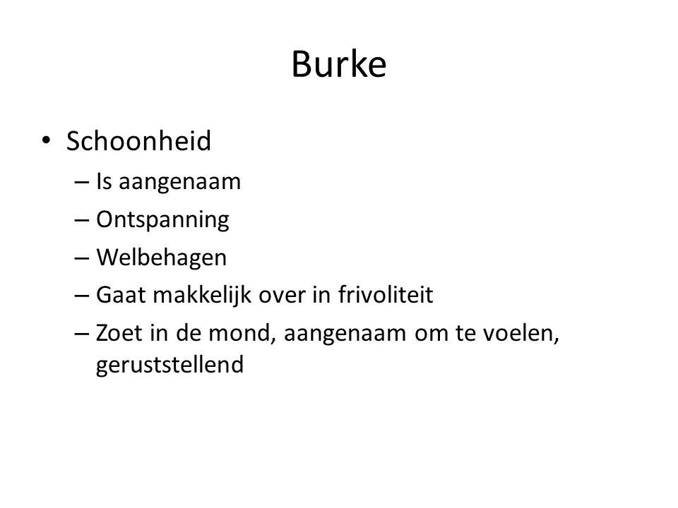 Burke Schoonheid Is aangenaam Ontspanning Welbehagen