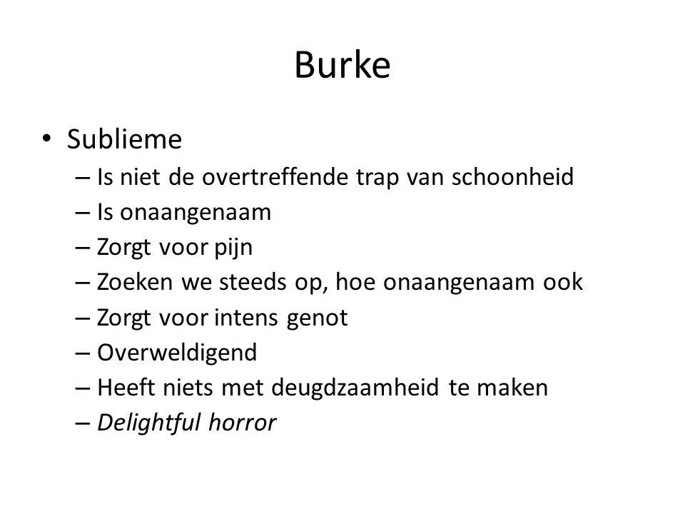 Burke Sublieme Is niet de overtreffende trap van schoonheid