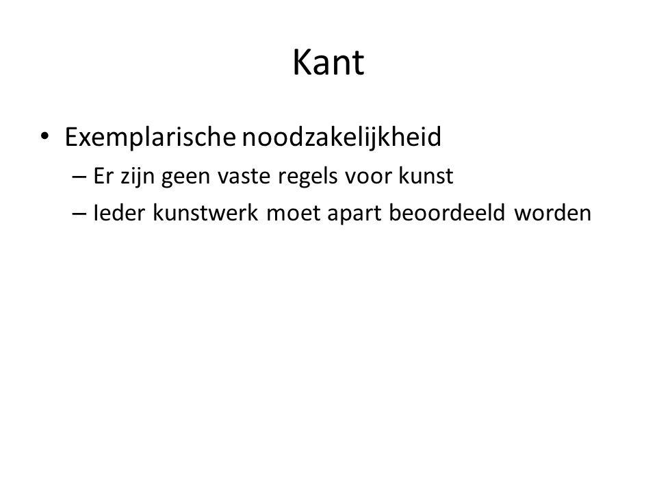 Kant Exemplarische noodzakelijkheid