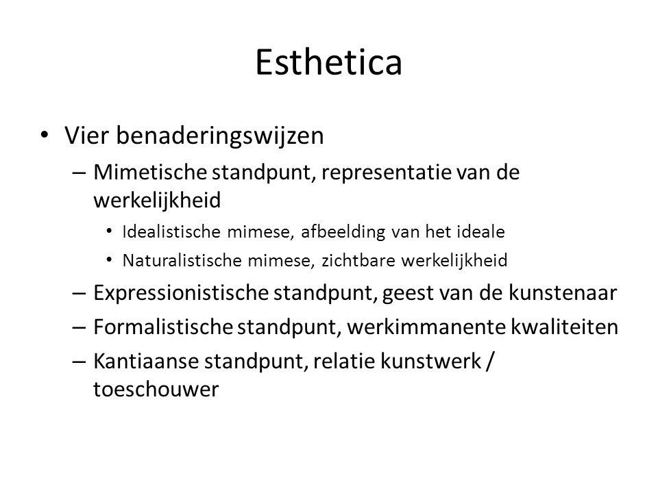 Esthetica Vier benaderingswijzen