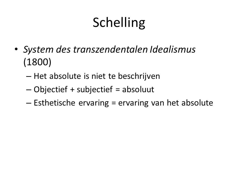 Schelling System des transzendentalen Idealismus (1800)