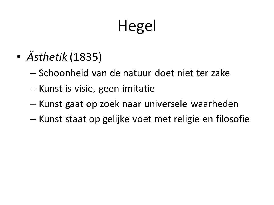 Hegel Ästhetik (1835) Schoonheid van de natuur doet niet ter zake