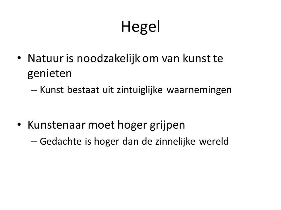 Hegel Natuur is noodzakelijk om van kunst te genieten