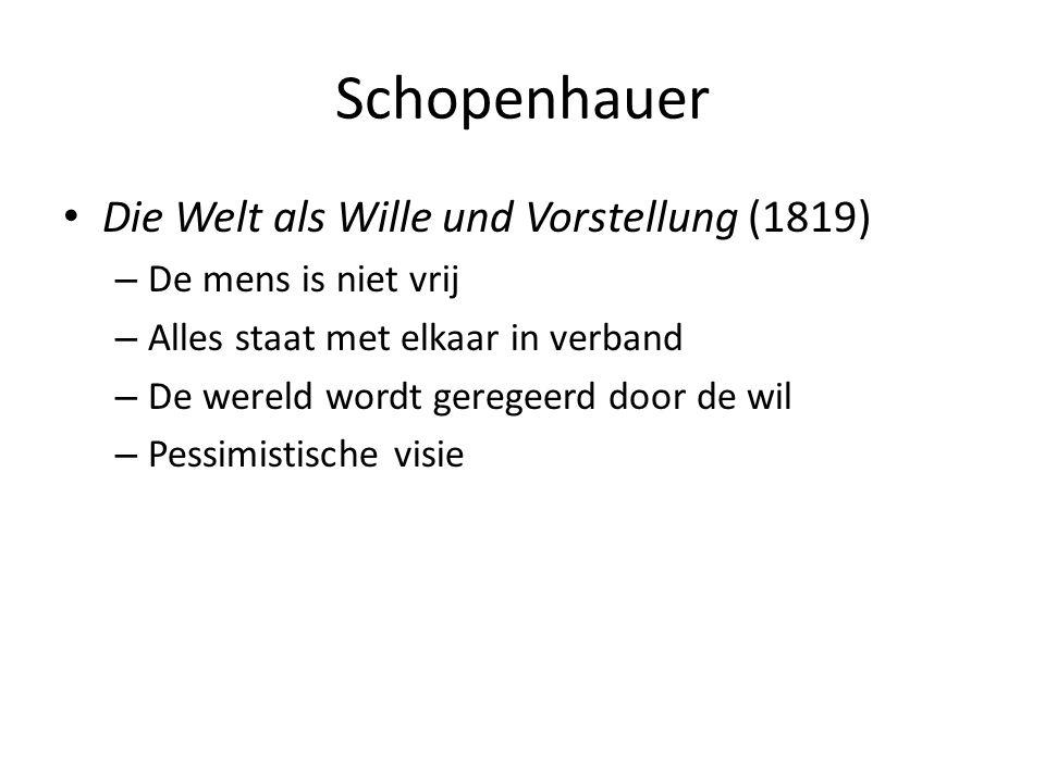 Schopenhauer Die Welt als Wille und Vorstellung (1819)