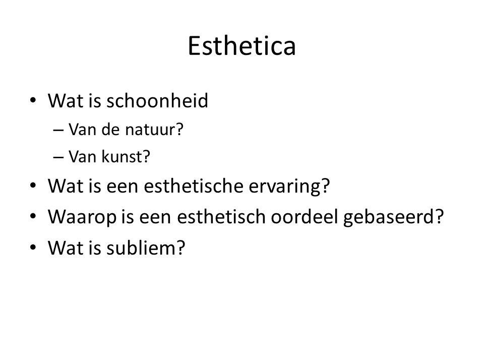Esthetica Wat is schoonheid Wat is een esthetische ervaring