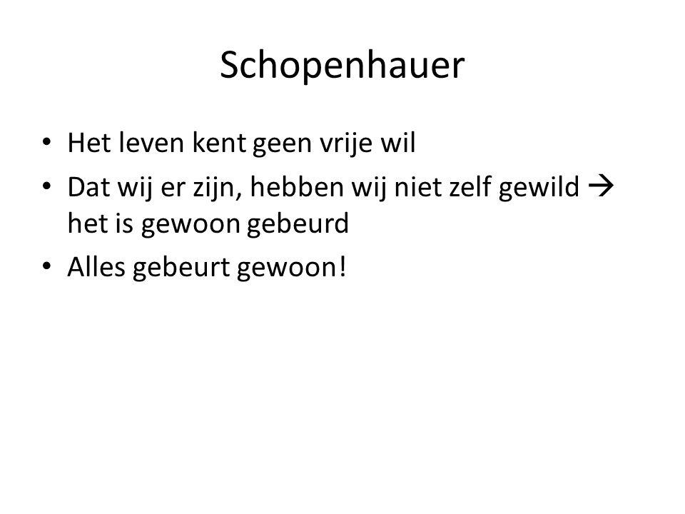 Schopenhauer Het leven kent geen vrije wil