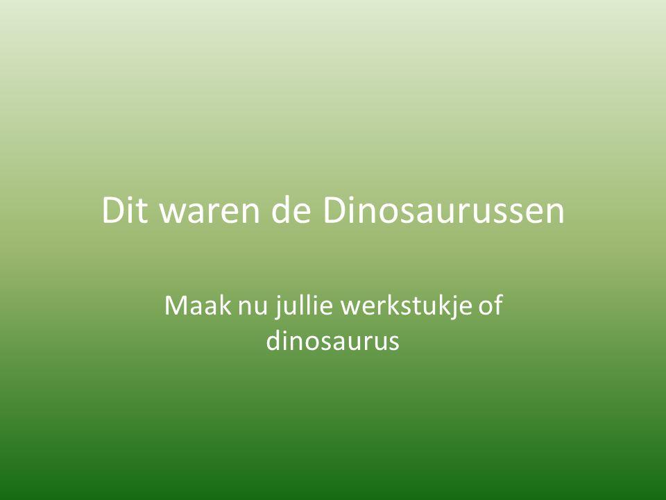 Dit waren de Dinosaurussen